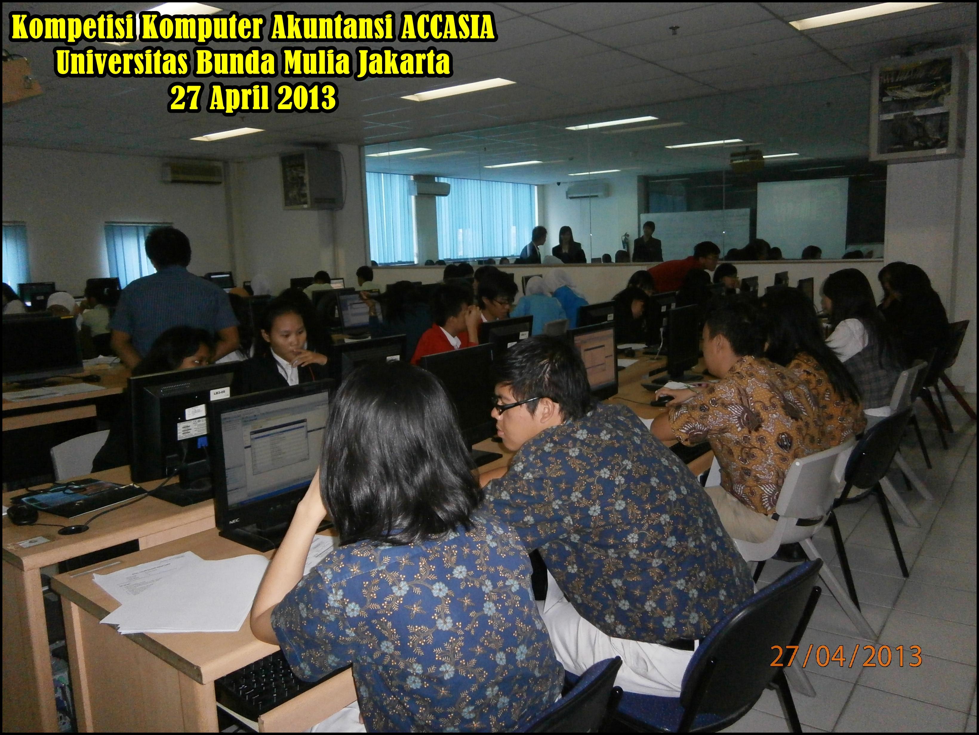 Acara Kompetisi Komputer Akuntansi Accasia 2013 Kami Berikan Pengetahuan Dan Pelayanan Terbaik
