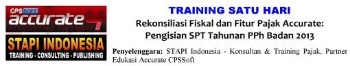 Training SPT Badan 2013 Fitur Pajak Accurate_1