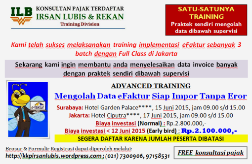 BROSUR ADVANCED TRAINING_SBY & JKT_15 & 17 Juni 2015